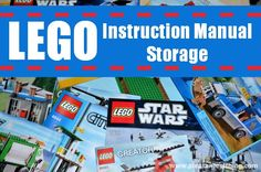 simple LEGO instruction manual storage solution. So smart.