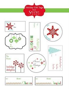fun printable christmas tags