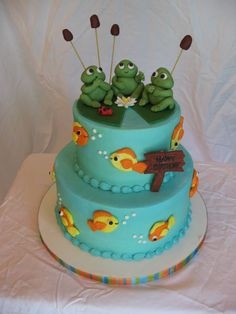 frogs and fish ~ cute!