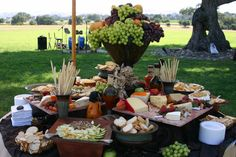 cheese and fruit table