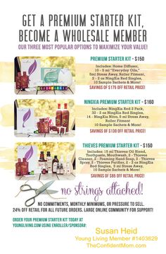 Choose the kit that is best for you - Young Living Premium Starter Kits for Wholesale Members - Oils, NingXia or Thieves!!!  | TheConfidentMom.com