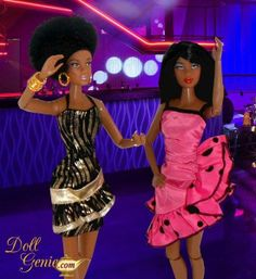 Lena and Cynthia decided to go out dancing at the Campus Teen Dance Club tonight... great way to celebrate the new hairstyle!