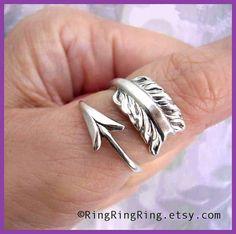 Cupid's Arrow Ring from RingRingRing on Etsy