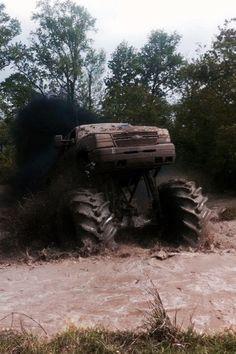 Beautiful chevy mud truck