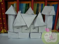 Geometry castles math lesson for teaching geometric solids, free from Ms. Fultz's Corner.
