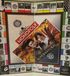 monopoli board, supernatural fantasy, christmas presents, monopoly boards, supernatural monopoly