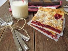 sour cherry pie bars  click here for recipe  mmmmmmmmmmmmm