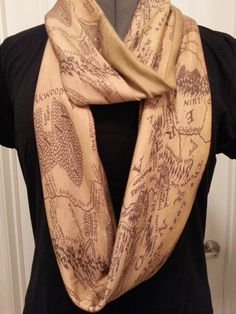 ring middl, maps, infinity scarfs, the hobbit fashion, knit scarves, middl earth, lord of the rings clothes, infin scarf, earth infin