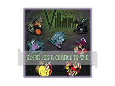GIVEAWAY! In anticipation of the August 23rd, #VillainsUnleashed party at Disney's Hollywood Studios, we are giving away a Disney Villains Pinset. Simply re-pin this image.   Last day to enter is August 22nd at midnight.  WINNER will be announced on August 23rd.  Make sure you are following us to keep up on all the Disney fun, surprises and news! | http://land.allears.net/blogs/dnews/2014/06/get_your_bad_on_first_ever_vil.html
