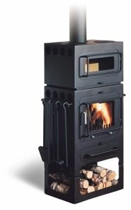Wood Burning Stove with cooking section