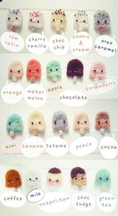 20 Icecream amigurum