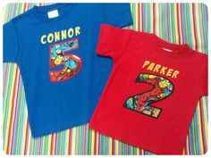 Birthday Number Appliqued Shirt