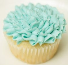 Easy ruffle technique for decorating cupcakes {video}.