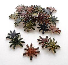 5 handmade spider tiles mosaic ceramic tiles by mosaicmonkey, $5.25