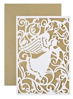 Angel Silhouette Laser Cut Christmas Boxed Card