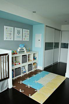 Blue &  gray toddler room