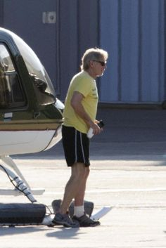 Looks like Harrison Ford is recovering from his ankle injury nicely!
