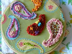 Paisly French Knot Embroidery | Flickr - Photo Sharing!