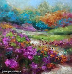 Flower Mound Trail, 14X14, oil www.nancymedina.com