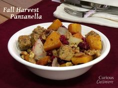 Fall Harvest Panzanella from Curious Cuisiniere #SundaySupper