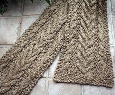 Cabled Scarf by historyweaver, via Flickr