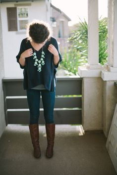 I like this... cute and casual...