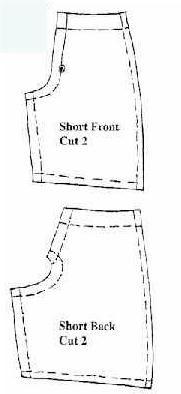 Как просто сделать шорты для кукол