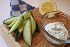 Cucumbers With Ranch Greek Yogurt Dip