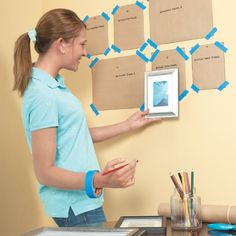 Organize a wall collage