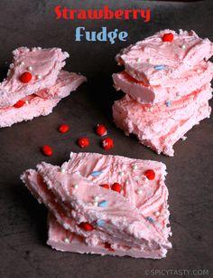 easy 2 ingredient Strawberry Fudge