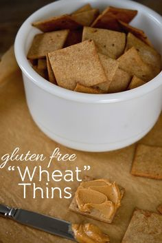 Gluten Free Wheat Thins Copycat Recipe - Gluten Free, Egg Free, and Dairy Free if you sub out the butter