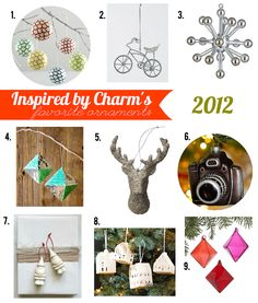 Fabulous ornaments for 2012 (Part 2) - curated by Michael of Inspired by Charm
