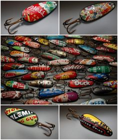 Handmade recycled lures