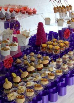 buffet, mini foods, weddings, finger foods, wedding foods, minis, bar idea, party food bars, parti