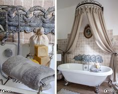 Deco salle de bains bathroom on pinterest tubs - Baignoire sur pied leroy merlin ...