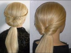 ▶ Лёгкая причёска на каждый день/в школу и вечерняя причёска.EASY Braid Hairstyles.Coiffures - YouTube