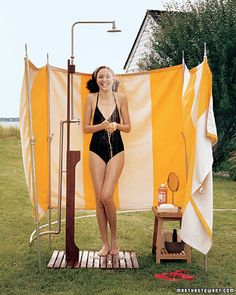 Take an Outdoor Shower
