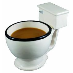 toilet coffee cup, gross hilarious