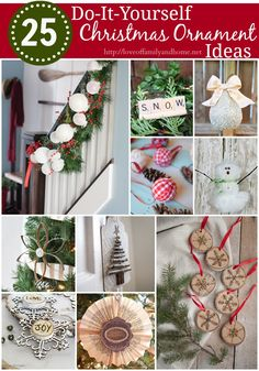 25 DIY Christmas Ornament Ideas - Love of Family & Home