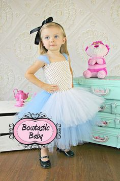 Wonderland Princess Halloween Tutu dress. All by BowtasticBaby2