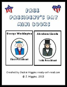 Free President's Day Printable Books for young readers