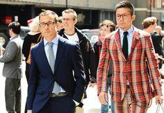 fashion weeks, blue, street style, plaid suit, men fashion, menswear, london style, gentleman style, dream suit