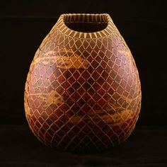 Fish Gourd with Net by  Cynthia Kendall