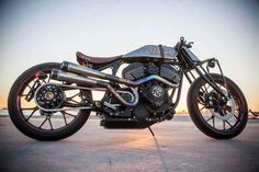 Roland Sands' Indian Chieftain-powered boardtracker custom motorcycle. ///