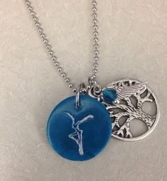 """Dave Matthews Band """"Firedancer"""" Necklace with """"Dreaming Tree"""" and """"Loving Wing"""" charms  on Etsy, $13.00"""