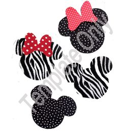 minnie mouse template - Bing Images