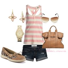 """""""pink prep"""" by blairmoore on Polyvore    LOVE this outfit and the SHOES!"""