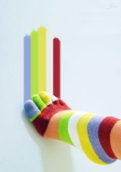happi sock, sock colour, stripey sock, colors, gifts, crazy socks, colour foot, crazi sock, toe sock