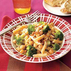 Pasta with Chickpeas and Broccoli | MyRecipes.com