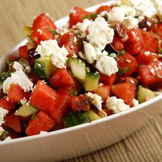 Mediterranean Watermelon Salad with Feta, a recipe from ATCO Blue ...